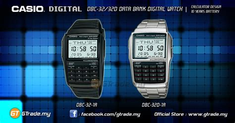 Casio Original Dbc 32d 1avdf casio data bank dbc 32d 1a digital calculator 10
