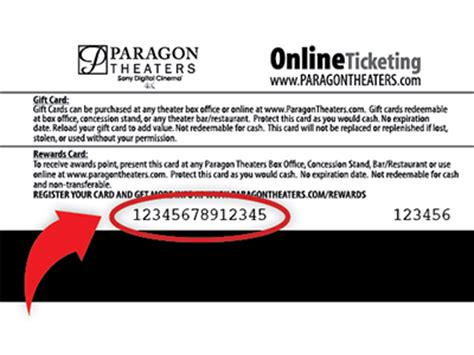 Paragon Gift Card - paragon theaters gift cards