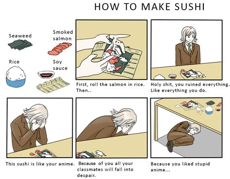 How To Make A Meme Comic With Your Own Picture - ryota makes sushi how to make sushi know your meme
