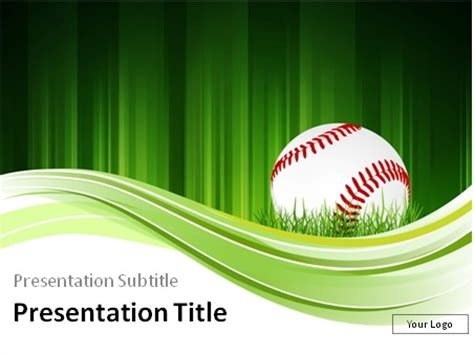 baseball powerpoint templates baseball theme powerpoint template