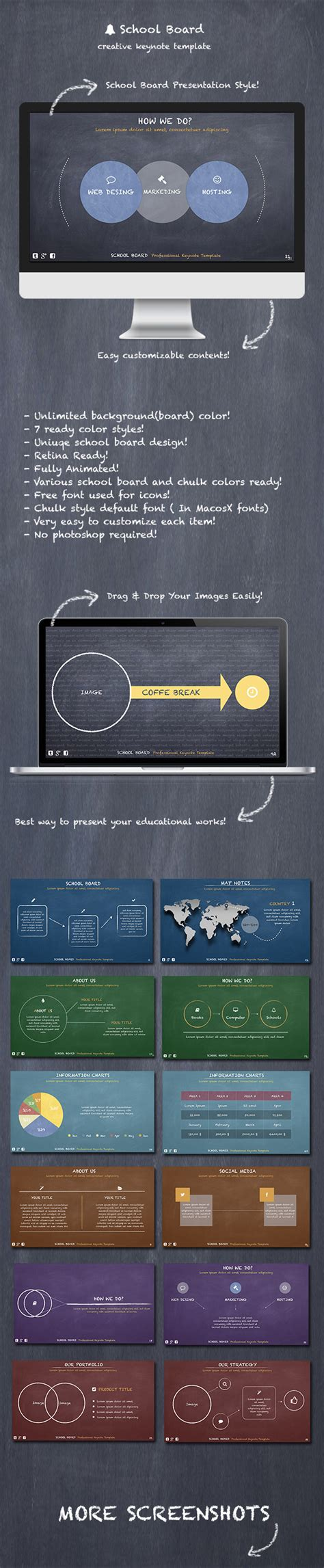 keynote themes academic school board keynote template graphicriver