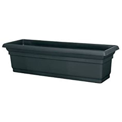 30 Inch Planter by Dcn Plastic N4230bk Distinction Window Box
