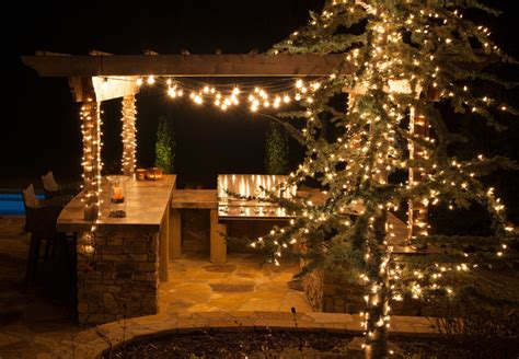 decorative string lighting lighting ideas perk up your party with pergola lighting yard envy