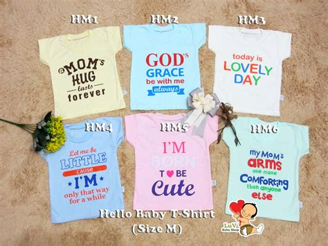 Kaos Oblong Hello Baby Size M baby shop one stop shop for you to get all the luvly
