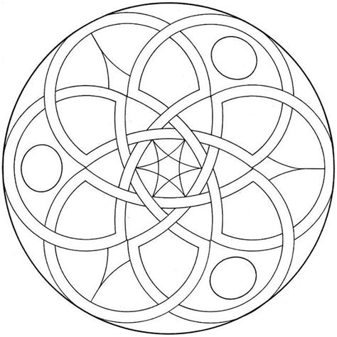 Free Coloring Pages Of Flowers Shapes Geometric Flower Coloring Pages