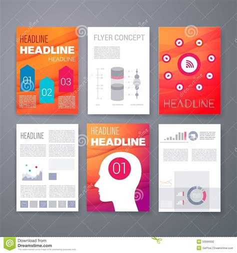 Design Template Set For Web Mail Brochures Stock Vector Image 50566692 Mail App Templates
