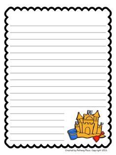 summer lined paper