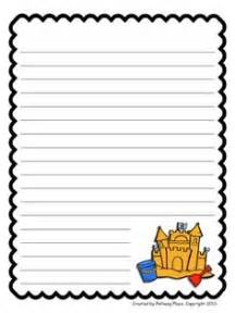 summer writing paper template summer lined paper