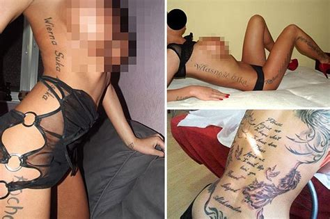 pimp branding tattoos pictured trafficked prostitutes branded by pimps to show