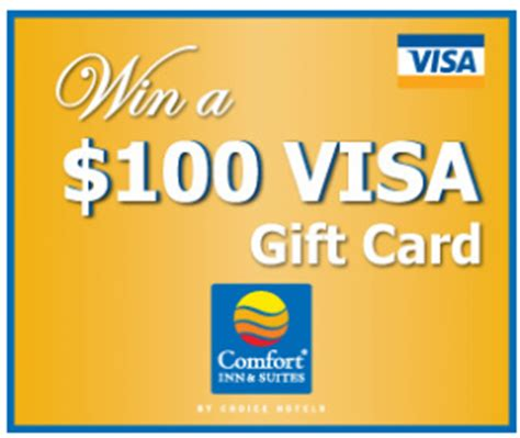 Comfort Inn Gift Card Promotion - comfort inn suites 100 visa gift card giveaway win a 100 visa gift card