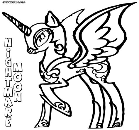 my little pony coloring pages nightmare moon nightmare moon coloring pages coloring pages to download
