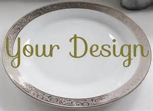 personalized china plates customizable plates silver platinum dinnerware customizable