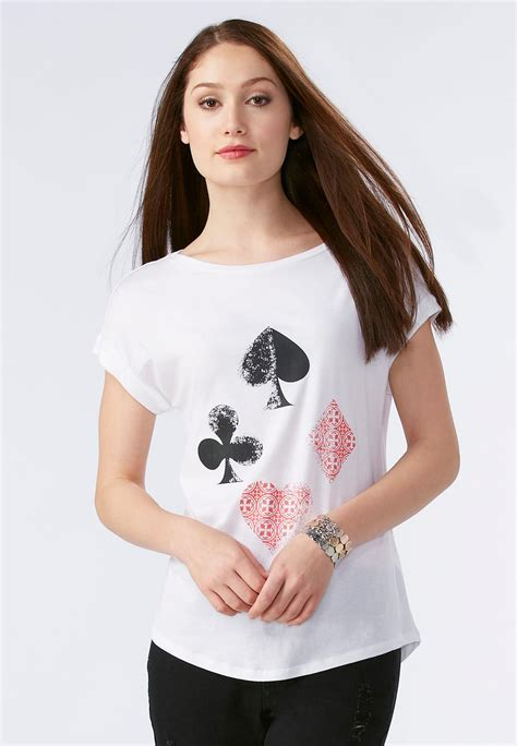 knit tops and tees ace of spades tees knit tops cato fashions