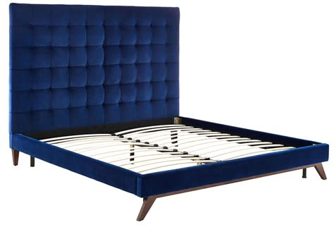 velvet king bed eden navy velvet king platform bed from tov coleman furniture