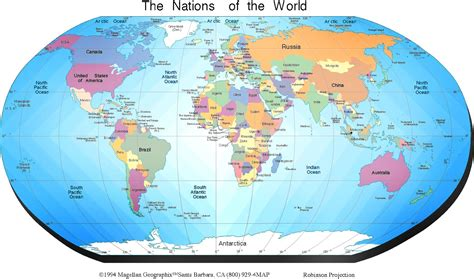 earth global map map of the world general information