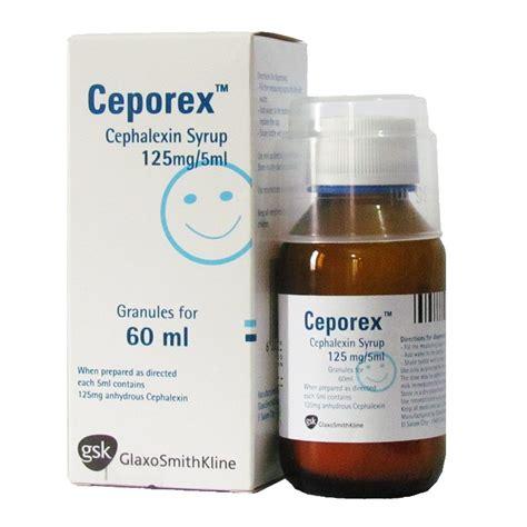 ceporex cephalexin 125mg 5ml syrup 60ml m medix