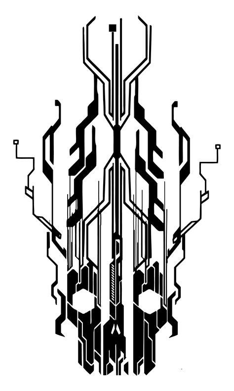 digital tattoo design digital flaming cyber skull by neogzus on deviantart