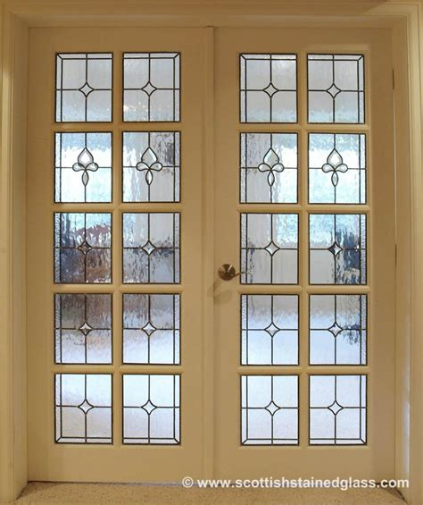 Leaded Glass Interior Doors Doorway