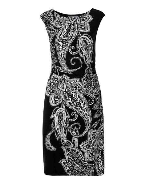 paisley print shift dress cleo