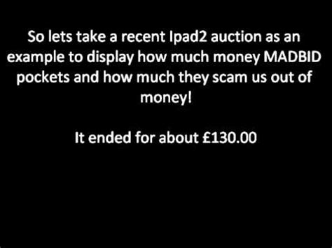 made bid madbid is a scam