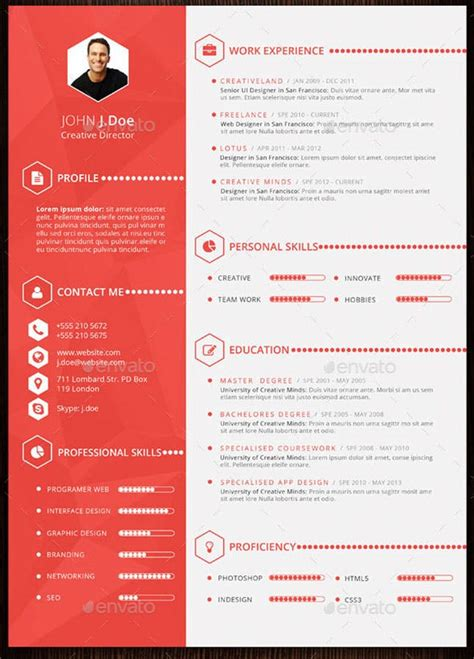 Free Designer Resume Templates by 10 Design Savvy That Will Redesign Your Resume For You Brit Co