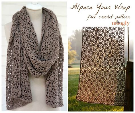 crochet scarf pattern alpaca yarn alpaca your wrap free crochet pattern on moogly