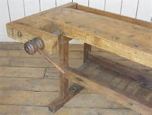 Old Wooden Bench For Sale antique woodworking wooden vintage bench with vices