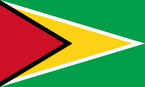 guyana flag coloring country flags