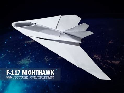 How To Make A Paper Nighthawk - f 117a videolike
