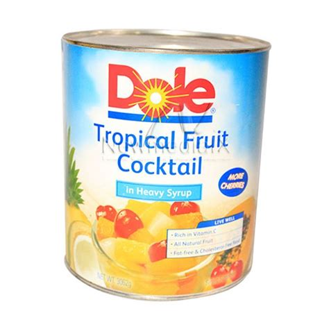 Tropical Fruit Cocktail Dole dole tropical fruit cocktail 3 062 kg gotindahan