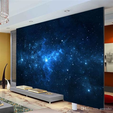 how to paint a mural on a bedroom wall blue galaxy wall mural beautiful nightsky photo wallpaper