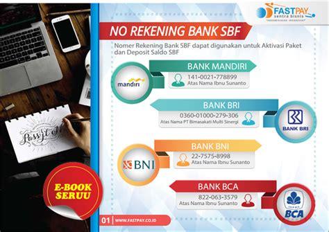 Ebook Pdf Panduan Bisnis Dan Offline Lengkap Murah ebook nomor rekening bank fastpay sentra bisnis