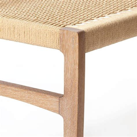 white oak bench giacomo bench with back solid white oak with hand woven