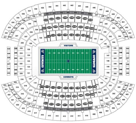 texas stadium map cowboy stadium seating chart dallas cowboys stadium tickets dallas cowboys football tickets