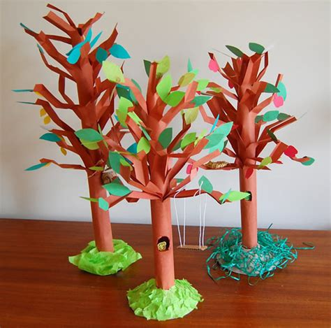 Paper Trees Craft - unique tree craft lesson plans