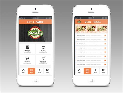 app design view 9 elegant playful restaurant app designs for a restaurant