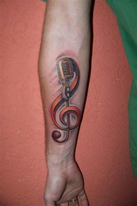 tattooed heart mic feed 40 music tattoos that rock tattoodo