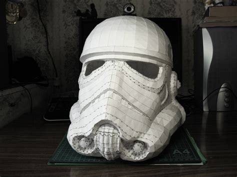 Stormtrooper Helmet Papercraft - stormtrooper helmet of construction by