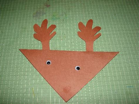 easy reindeer christmas card craft for preschool