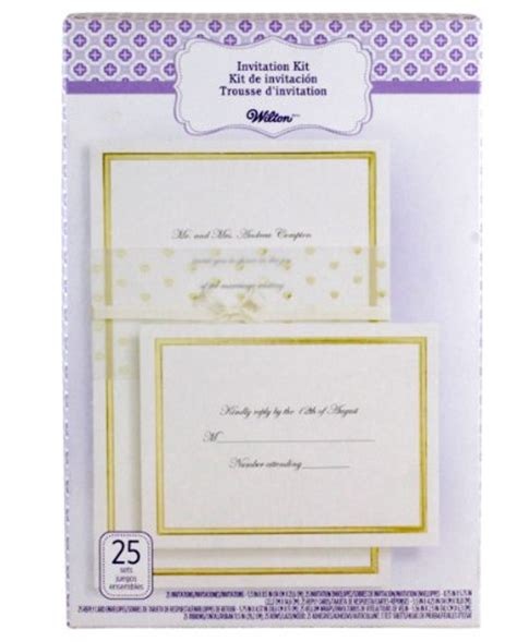 wilton wedding gold sweetheart invitation set 50 count wilton 25 count invitation kit gold wrap wedding invitations it s wedding time