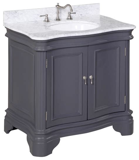 charcoal grey bathroom vanity katherine 36 quot bath vanity carrara charcoal gray