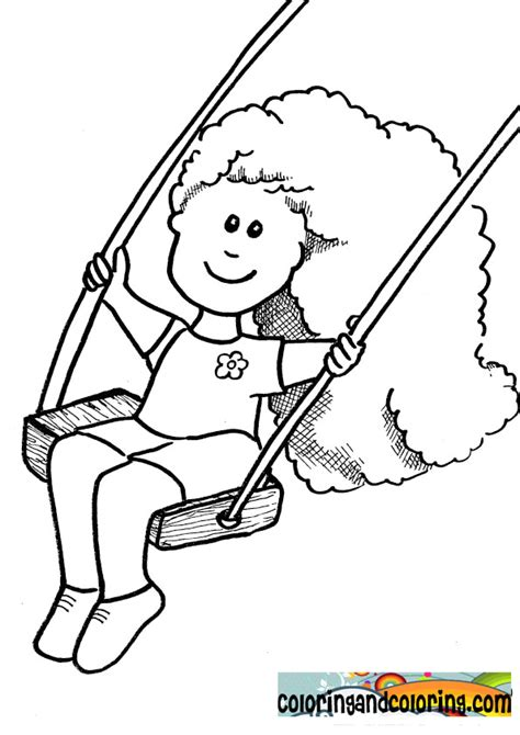 Swing Coloring Page Coloring Home