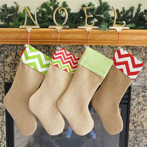 pattern for burlap christmas stockings 1000 images about christmas stockings burlap on