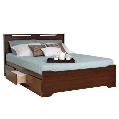 platform queen bed with headboard queen platform storage bed with headboard in espresso