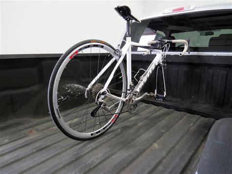 truck bed bike carrier rockymounts loball truck bed bike carrier fork mount