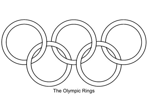 olympic rings coloring page the gallery for gt olympic rings black and white