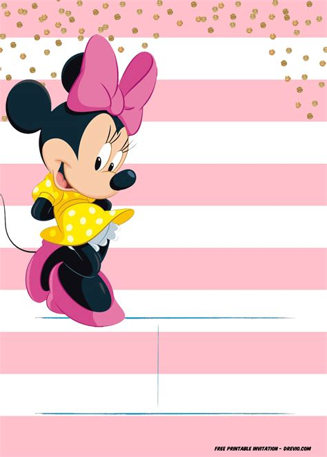 Minnie Mouse Printable Invitations Free Bookhotels Tk