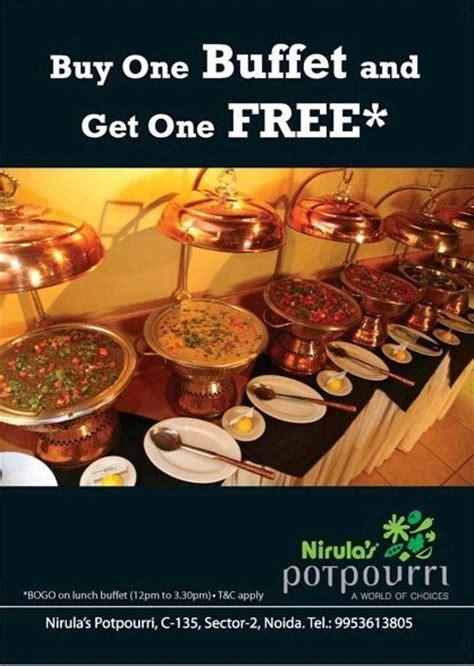 nirula s potpourri restaurant lunch dinner buffet deal
