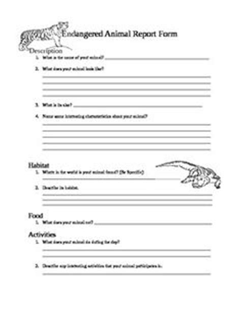 Endangered Animal Report Template 3rd 4th 5th 6th Grade Freebie Science Pinterest Teaching Animal Report Template 5th Grade