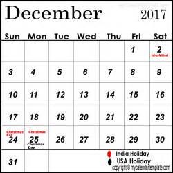 Calendar 2017 December With Holidays December 2017 Calendar With Holidays Calendar Designs